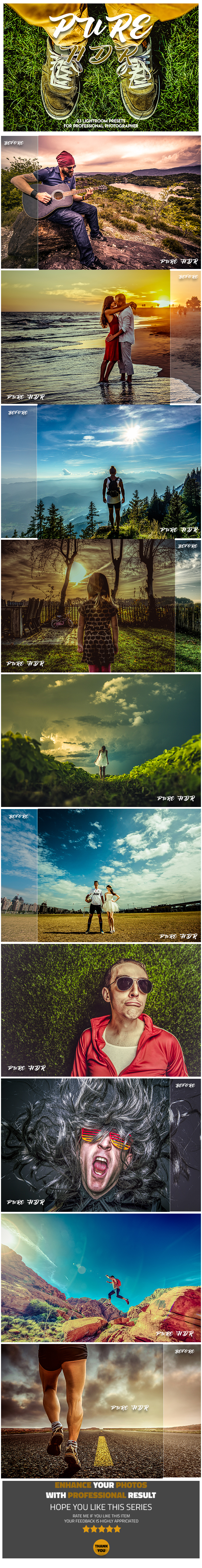 23 Pure HDR Lightroom Presets - Lightroom Presets Add-ons