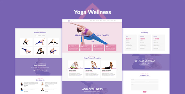 Yoga Wellness — Health Beauty & Yoga HTML5 Responsive Template