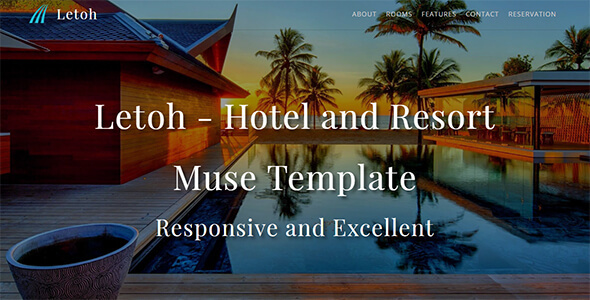 Letoh_Hotel & Resort Muse Template - Corporate Muse Templates