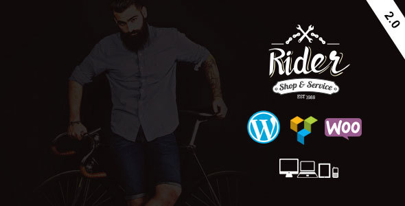 Rider - Bike Shop & Service WordPress Theme - WooCommerce eCommerce