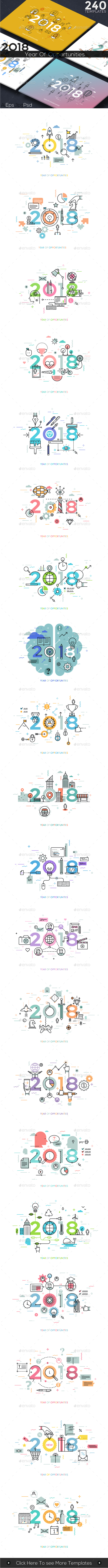 GraphicRiver 2018 Year Of Opportunities 20628434