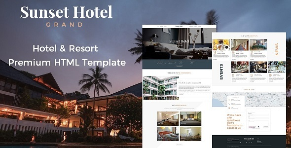 Image of Sunset Hotel - Hotel & Resort Responsive HTML5 Template