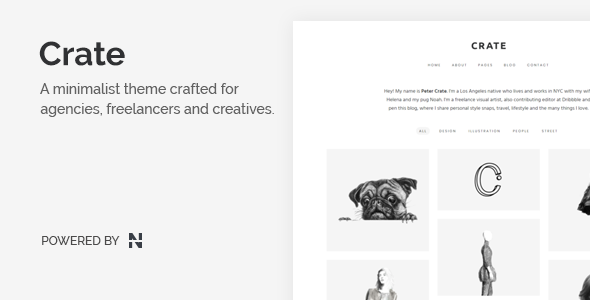 Crate - Minimalist WordPress Theme