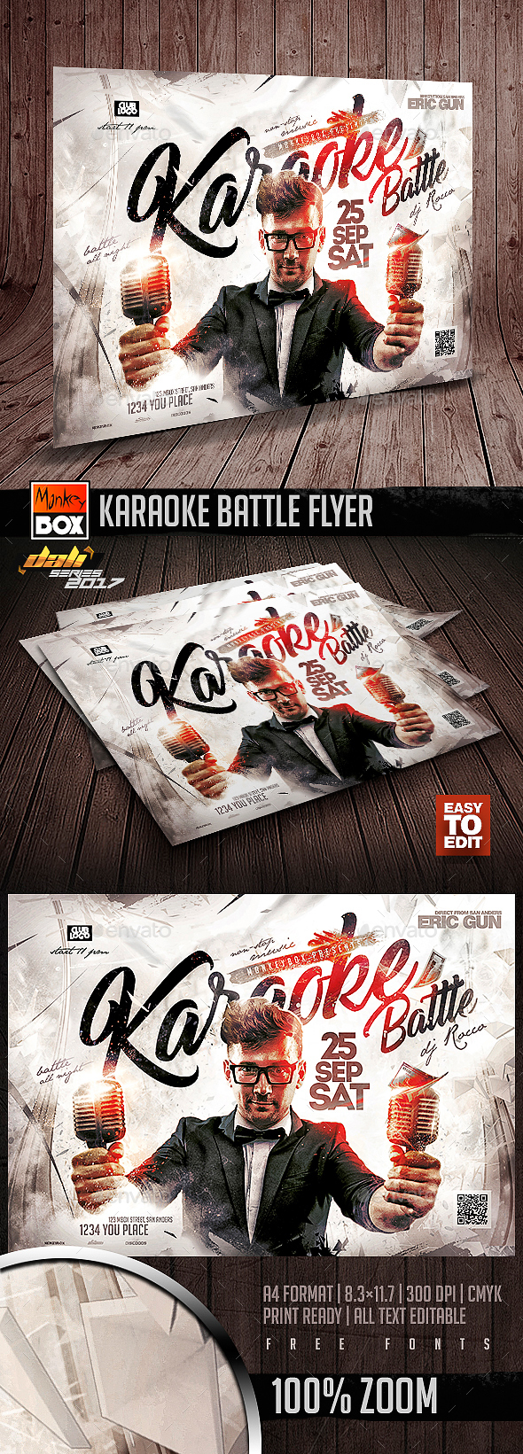 GraphicRiver Karaoke Battle Flyer 20628711