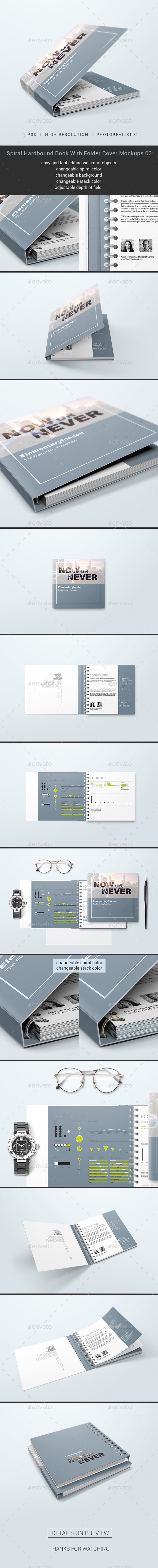 GraphicRiver Spiral Hardbound Book With Folder Cover Mockups 03 20628864