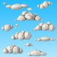 10 Low Poly Clouds Pack - 3DOcean Item for Sale