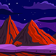 Red Mountains Game Background