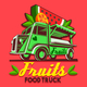 Food Truck Fruit Stand Fast Delivery Service Vector Logo - GraphicRiver Item for Sale