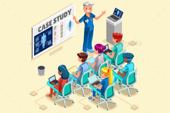 Group of Doctors and Nurses Vector Cartoon - Vectors