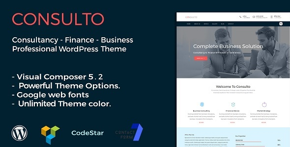 Consulto | Consulting & Business WordPress Theme - Business Corporate