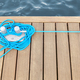 Cleat with blue rope on a wooden pier. - PhotoDune Item for Sale
