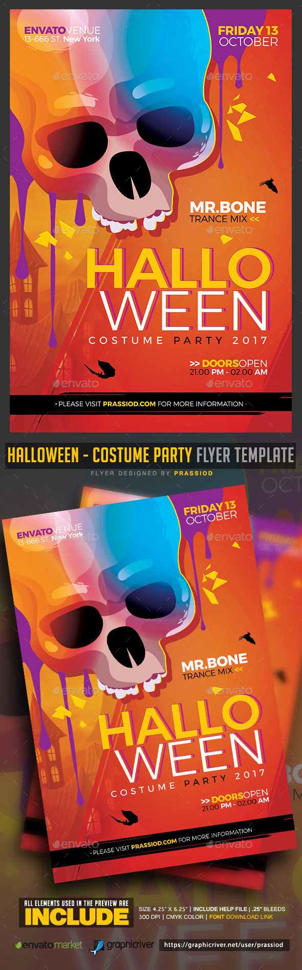 Halloween - Costume Party Flyer Template