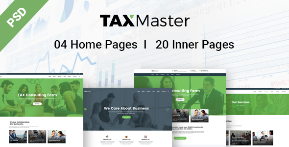 TAXMaster - Finance, Tax, Consulting & Corporate PSD Template - Corporate PSD Templates