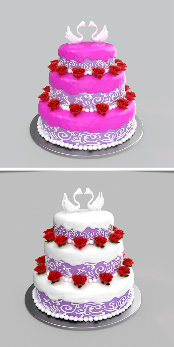 Wedding Cake - 3DOcean Item for Sale
