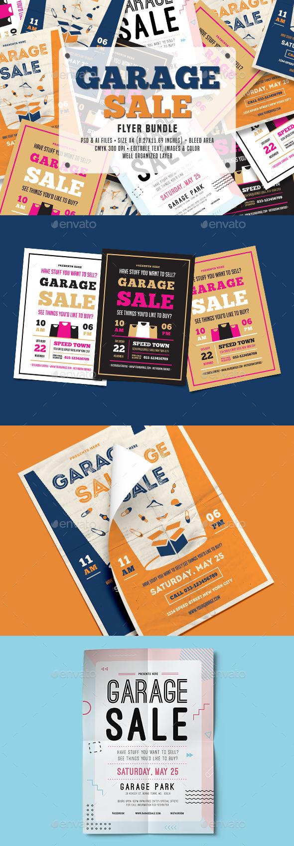 GraphicRiver Garage Sale Flyer Bundle 20629640