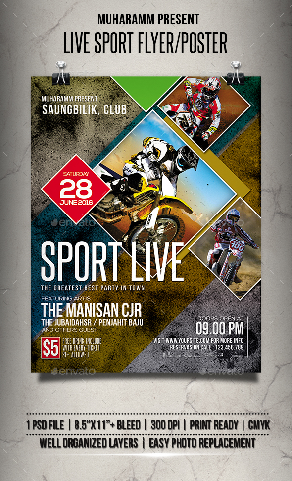 Live Sport Flyer / Poster - Sports Events