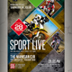 Live Sport Flyer / Poster - GraphicRiver Item for Sale
