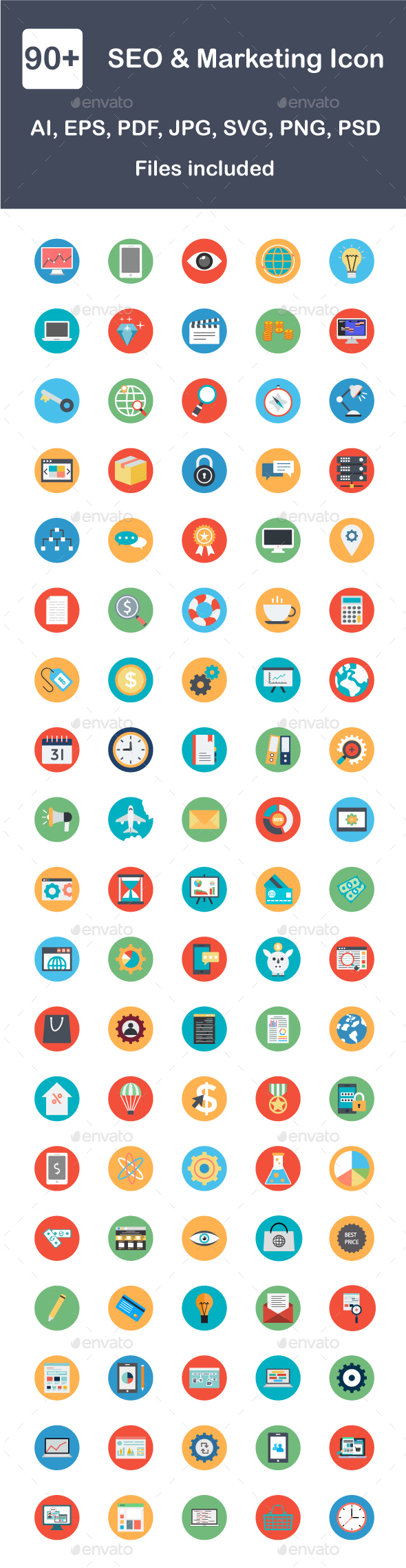 GraphicRiver Seo & Marketing Flat Icon 20629824