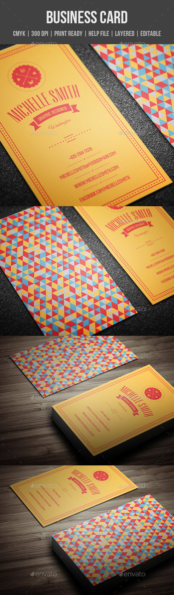 GraphicRiver Retro Business Card 20629954