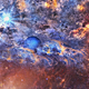 Travel Through Abstract Space Nebulae to the Planet - VideoHive Item for Sale