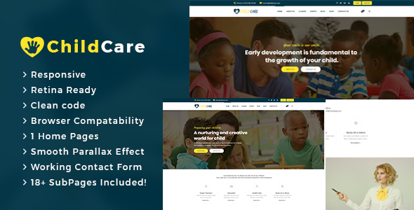Download Child Care : Education  HTML5 Template