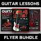 Guitar Lessons Flyer Bundle - GraphicRiver Item for Sale