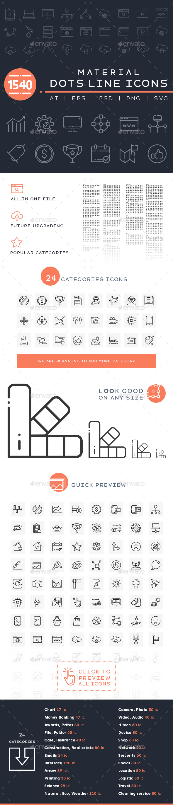 GraphicRiver 1540 Material Dots Line Icons 20630200