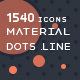 1540 Material Dots Line Icons - GraphicRiver Item for Sale