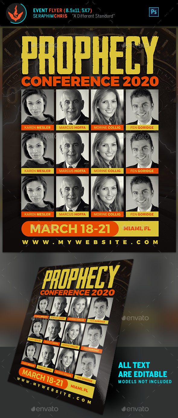 Prophecy Conference Church Flyer Template - Church Flyers