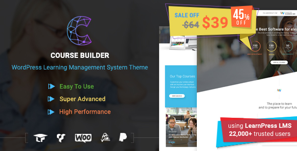 Course Builder | WordPress Learning Management System Theme & Elearning Software