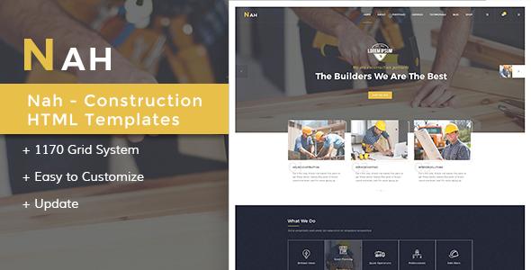 Nah Multipurpose Construction Drupal 8 - Drupal CMS Themes