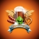 Oktoberfest Vector Illustration with Fresh Dark