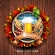 Oktoberfest Vector Illustration with Fresh Lager - GraphicRiver Item for Sale