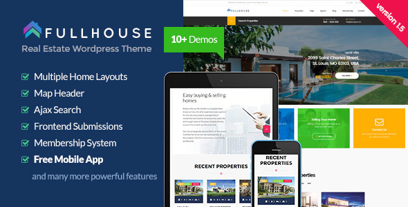 FullHouse - Real Estate Responsive WordPress Theme - Real Estate WordPress