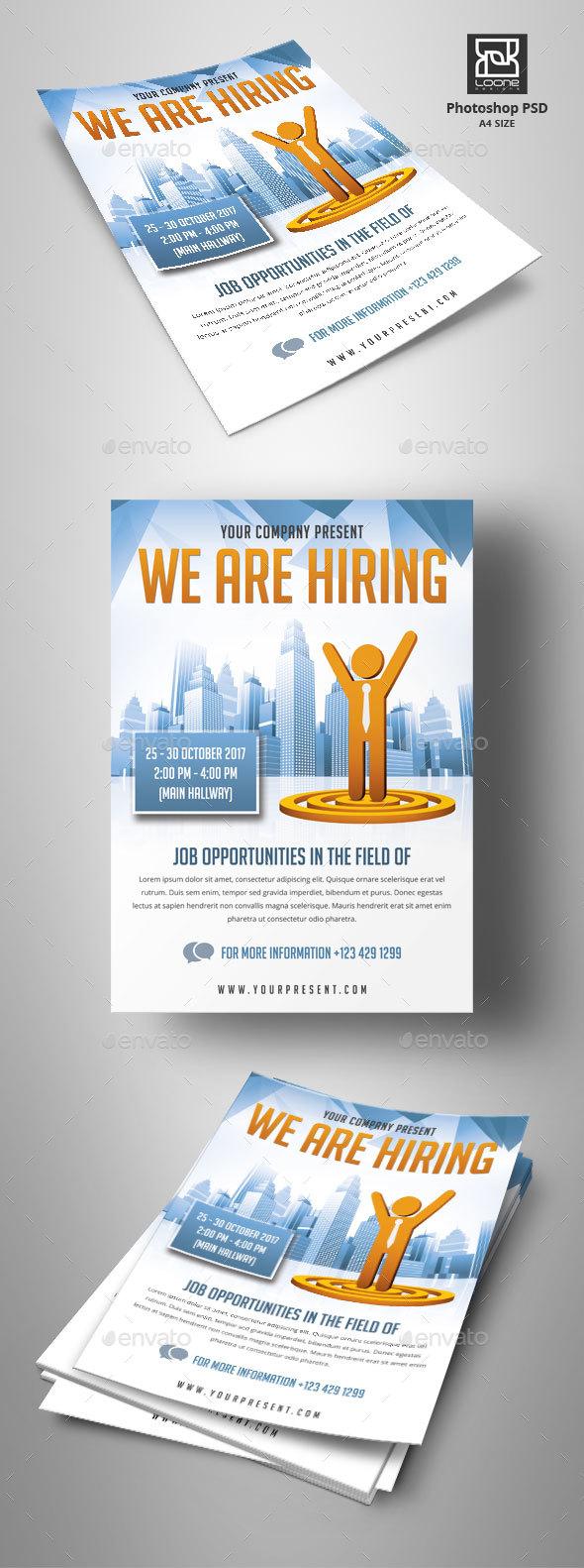 GraphicRiver Job Fair Flyer 20630555