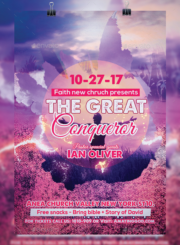 GraphicRiver Great Conqueror Church Flyer 20630629