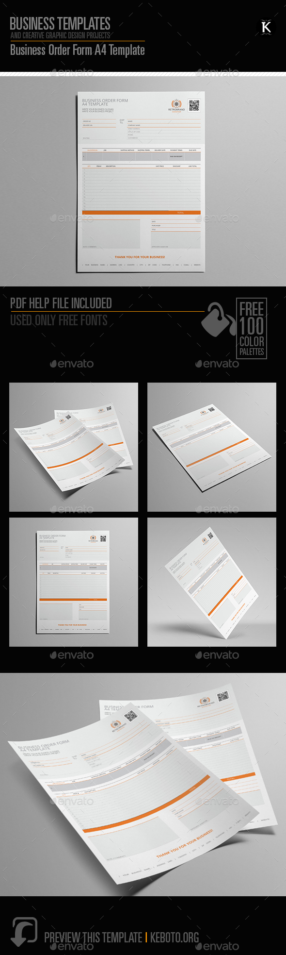 GraphicRiver Business Order Form A4 Template 20630654