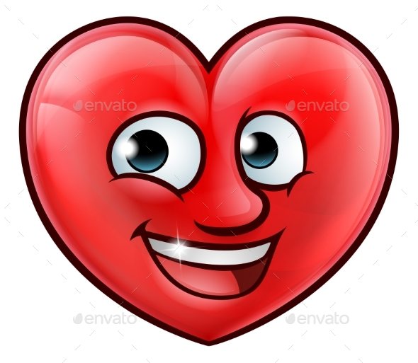 Mascot Heart Cartoon - Miscellaneous Vectors