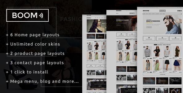 Image of Boom - Fashion & Accessories Prestashop Theme