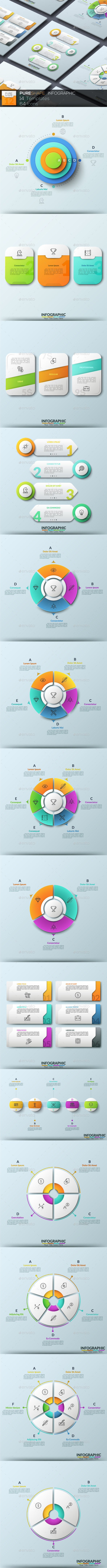 Pure Shape Infographic. Set 12