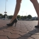 Female Legs in High Heels Shoes Walking in the Urban Street - VideoHive Item for Sale