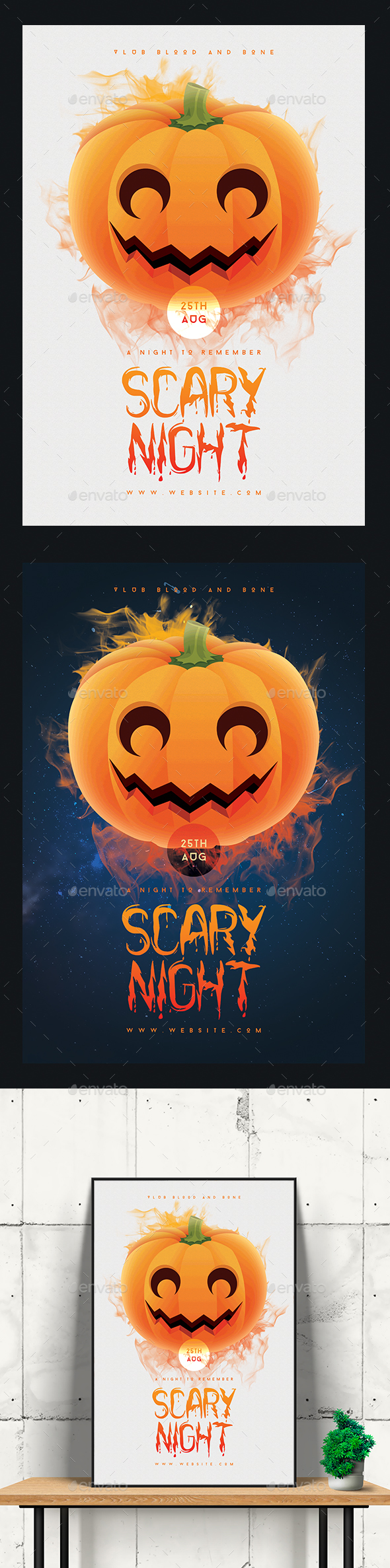 Scary Night Flyer/Poster - Clubs & Parties Events