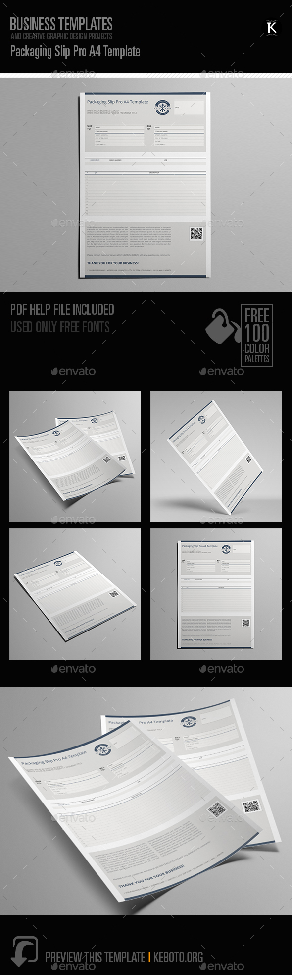 GraphicRiver Packaging Slip Pro A4 Template 20631222