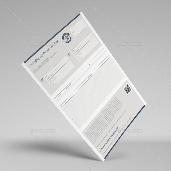 Packaging Slip Pro A4 Template