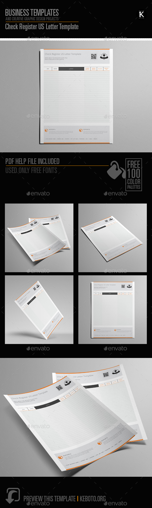 GraphicRiver Check Register US Letter Template 20631248