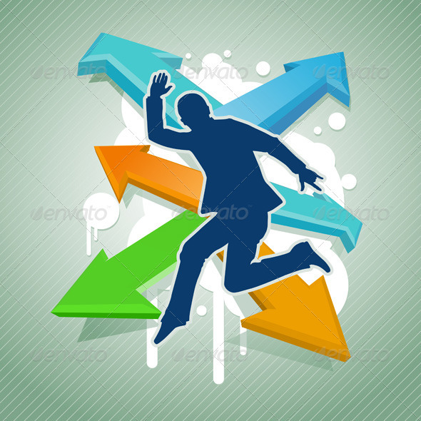 Jumping Businessman - Concepts Business