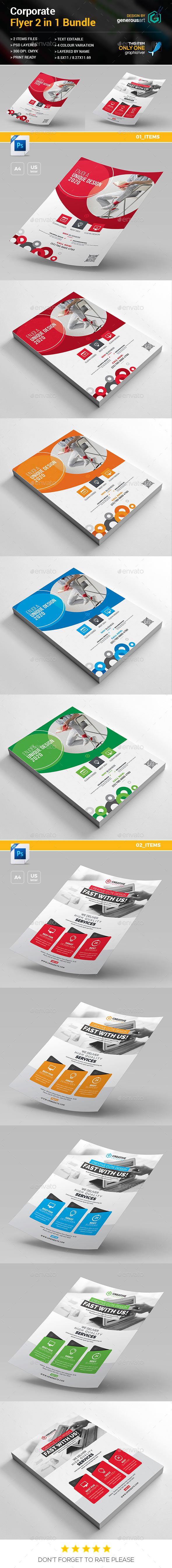 Flyer Bundle 2 in 1 - Corporate Flyers