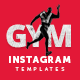 Fitness GYM Instagram Banner Templates