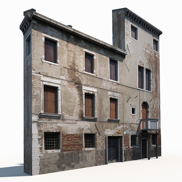 Building Facade 174 Low Poly - 3DOcean Item for Sale