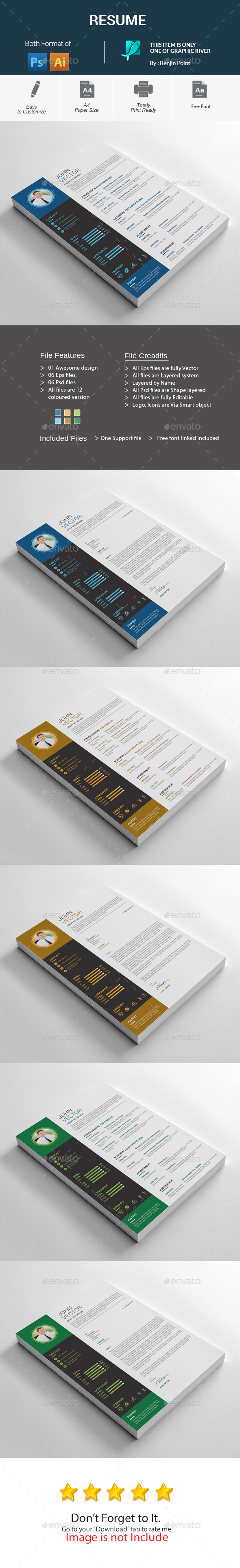 GraphicRiver Resume 20631400